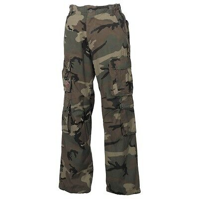 Cargohose Defense Pure Trash Freizeithose woodland Outdoor vintage MFH