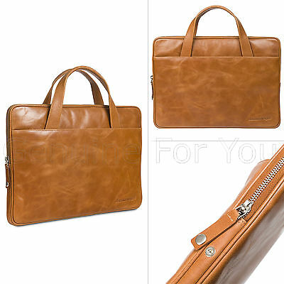 "New Genuine dbramante1928 Leather 13"" Professional Mackbook Bag Laptop Briefcase"