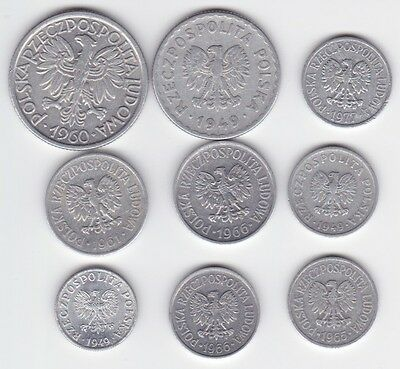 Poland Coin Lot - 9 Coins (Lot 01)