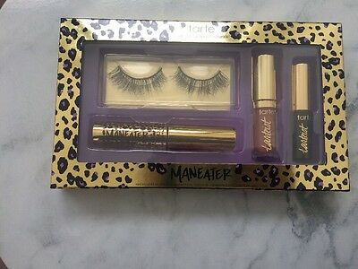 NEW Tarte Cosmetics Maneater Makeover Lash & Lip Set - False Lashes Mascara