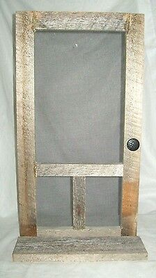 "Vintage Old Screen Door Shelf Handmade Unique Rustic Country 23"" X 13"""