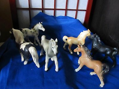 Lot Of 6 Vintage - Porcelain Horse Figurines - All Made In Japan- 1 A Norleans