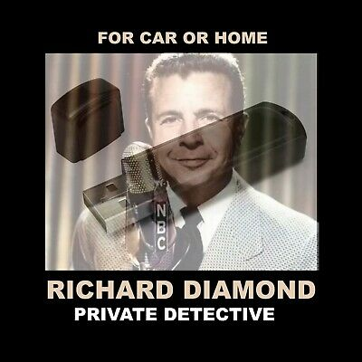 Enjoy Richard Diamond In Your Car Or Home!  118 Old-Time Radio Detective Shows