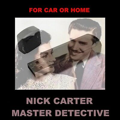 Enjoy Nick Carter In Your Car Or Home!  152 Old-Time Radio Detective Shows
