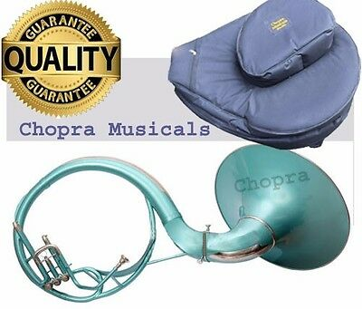 """Best Sale Sousaphone Painted Green 21"""" Bell Bb 3V BAG n MOUTH PIECE"""