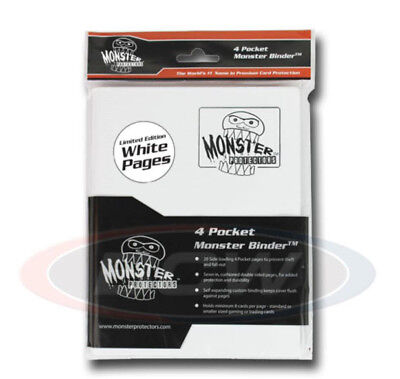 Monster Gaming Card Binder 4 White with White Pages