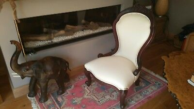 leather queen anne bedroom chair