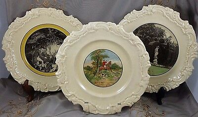 ANTIQUE Royal Doulton ART PLATES Lot of 3 Plates 9.25""