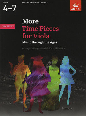 More Time Pieces for Viola Volume 2 ABRSM Sheet Music Book Grades 4-7