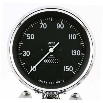 Smiths Vincent dial 5 inch (125mm ) Digital Speedometer universal fits all bikes