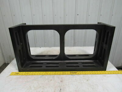"""12""""x18""""x36  Slotted Cast Iron Angle Plate/Fixturing Machinist Set Up Unusual"""