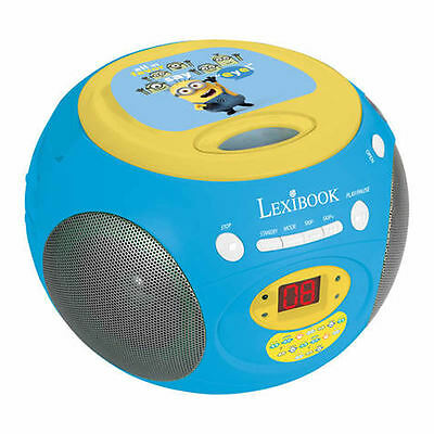 DESPICABLE ME MINIONS RADIO CD PLAYER NEW by LEXIBOOK KIDS