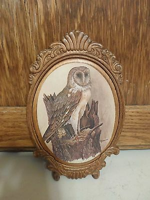 Wood Hoot Owl Plaque by E. Ranbow