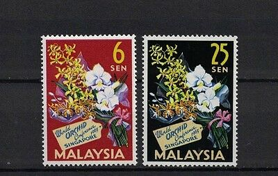 Malaysia 1963 Minr 4-5 ** / mnh Orchideen orchids
