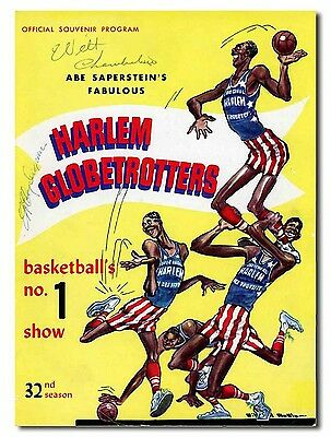 Wilt Chamberlain & McCoy Ingram Dual Signed Harlem Globetrotters Program