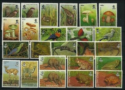 1993/97    6 attractive issues: Birds, mushrooms, reptiles, mamals, frogs
