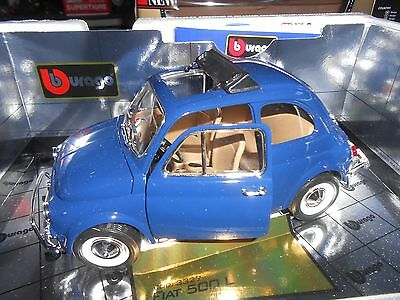 Fiat 500 L Blu 1968 cod 3327 Burago gold collection 1/16 no 1/18 1/10 nuova