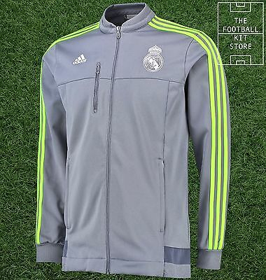 Real Madrid Anthem Jacket - Official Adidas Football Training - All Sizes