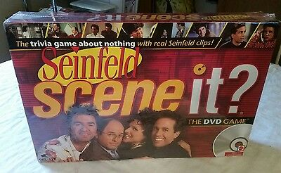 Seinfeld Scene It DVD Board Game Mattel 2008 TV Show Trivia Sealed NEW