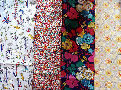 LIBERTY PRINTS cotton tana lawn fabric bundle x4 pieces CRAFT QUILTING (pack BY)
