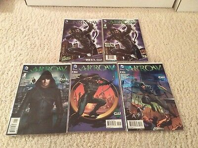 Arrow #1 2 3 &  2 EXCLUSIVE Arrow SDCC DC COMICS 2017 CW TV SHOW Amell JLA Movie