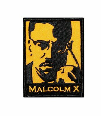 "Malcolm X Iron On Patch 3"" x 2 1/2"" Free Shipping by Dave Cherry 9730"