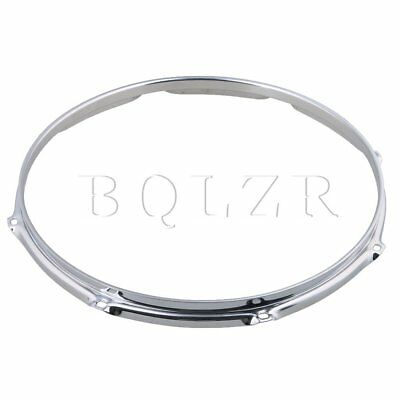 BQLZR Silver Dia 14 Inch 8 hole Snare Drum Hoops Rims for Drums and Percussion