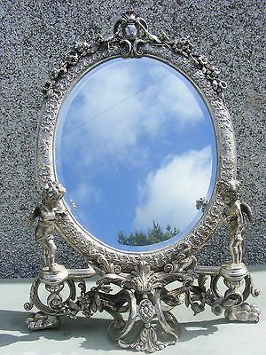 Art Nouveau Style Dressing Table Mirror With  Cherubs