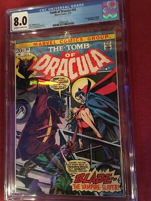 Tomb Of Dracula #10 - 1st App Of Blade. CGC 8.0 OW/W