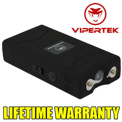 VIPERTEK BLACK VTS-880 10 BV Mini Rechargeable LED Police Stun Gun + Taser Case
