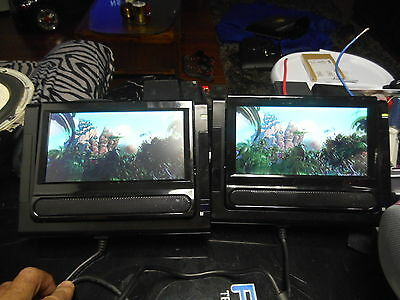 Lovely Teac  Dvp388G Portable Dvd Player For Car / Two Screens And Accessories