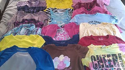 Girls Size Medium Shirts Lot Of 21 Various Brands Cherokee Old Navy Jordache