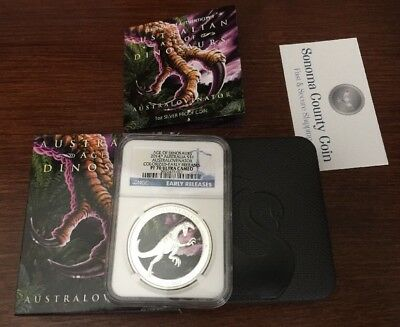 2014 Australia Age of Dinosaurs - Australovenator, Early Release NGC PF70 UCAM