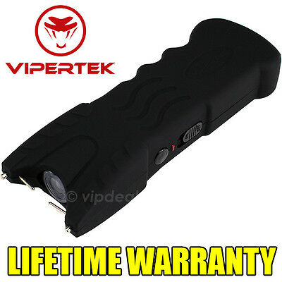 VIPERTEK BLACK VTS-979 900 MV Rechargeable LED Police Stun Gun + Taser Case
