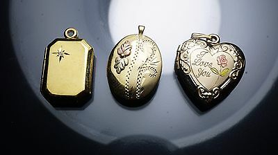 Antique/vintage gold filled Fine jewelry Necklace pictures lockets/chain Fob