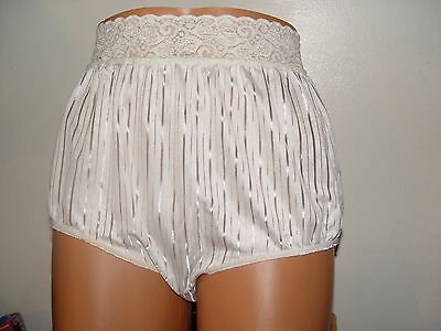 vintage high cut panty by bestform made in usa size 8 bright lines lace around w