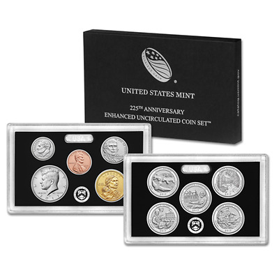 2017 S US Mint 225th Anniversary Enhanced Uncirculated 10 Coin Set OGP