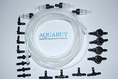 Airline Kit 4mm for Aquariums  with airline and 4 sets of fittings