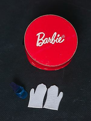 SALE Vintage Barbie Red Hat Box with Gloves Commuter Set #916 Great
