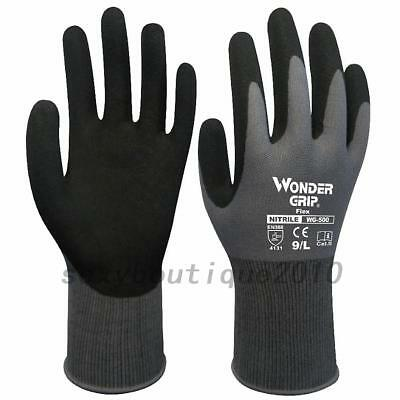 Outdoor Wonder Grip Gloves Finger Mittens Work Nitrile Coating Nylon AU Local