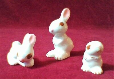 Rabbit Bunny Family, Vintage, Large Eyes, Lot