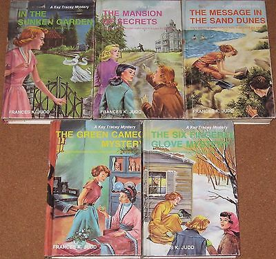 Lot of Vintage KAY TRACEY Girl Mystery Books, Francis Judd, Picture Cover