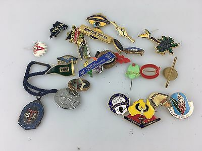 Vintage - Large Lot Of Pins & Badges - Olympics - Anzac - Rsl & More