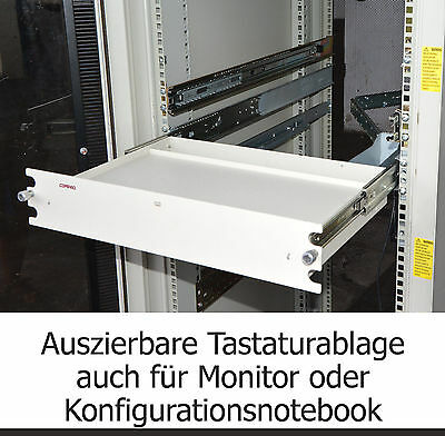 Shelf Server Tower With Rails Slides And Cable Routing For Keyboard Monitor