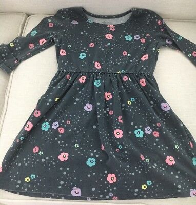 Circo Girl's Gray Print 3/4 Sleeve Dress Size 6/6X