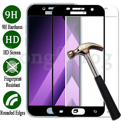 For Samsung Galaxy A5 2017, Full Screen Cover Tempered Glass Screen Protector