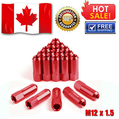 20X NEW M12X1.5 Red 60MM Extended Tuner Racing Lug Nuts fits Honda Accord Civic