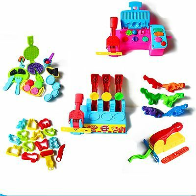 more style Color Play Dough Model Tool Toys Creative 3D 4D Plasticine Tools Set