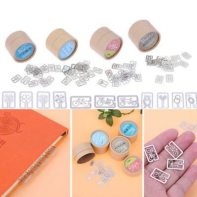 20pcs/box Metal Bookmark Paper Clips Office School Book Note Bookmarks Marker