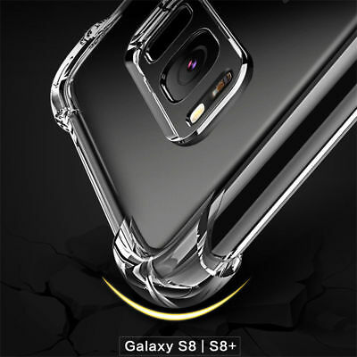 360° Shockproof Soft Silicone Transparent TPU Back Case Cover For Samsung S8 S7